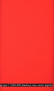 grupa C 2345-605,blackout,rosu,verso argintiu
