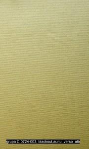 grupa C 0724-003, blackout,auriu ,verso  alb