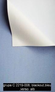grupa C 2219-008,blackout,albastru,verso  alb